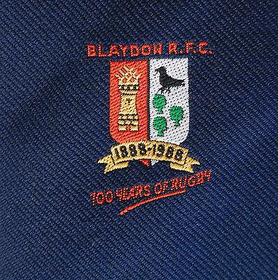 Blaydon RFC tie Rugby Football 1988 centenary vintage 1980s Newcastle on Tyne