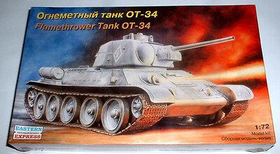 """Nuova Scatola Kit Montaggio 1/72 """" Carro Armato Flamethrower Tank Ot - 34 Lustro Incantevole"""