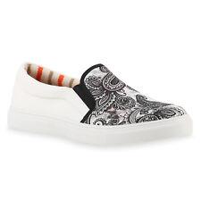 Herren Sneakers Slip ons Prints Sportliche Slipper Freizeit 816608 Schuhe