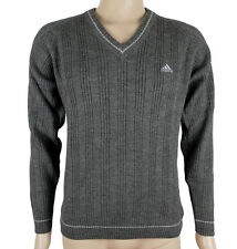 Adidas Ess Rib P/O Herren Pullover Strickpullover Grau Neu Gr.S/M