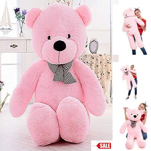 "Giant Plush Teddy Bear Stuffed Animal Soft Toy Girls Valentines Day Gift 47/"""