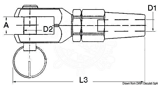 Osculati Edelstahl Gabelterminal 6 6 Gabelterminal mm e23081