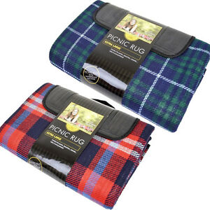 Image Is Loading Christmas Picnic Rug Waterproof Backing Carry Handles Travel