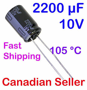 5pcs 2200uF 6.3V 10x25mm 105C Panasonic FC Low impedance For LCD TV LED PSU PC