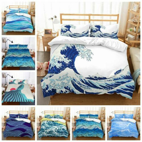 3D Abstract Ocean Wave Print Duvet Cover Bedding Set Quilt Cover Pillowcases