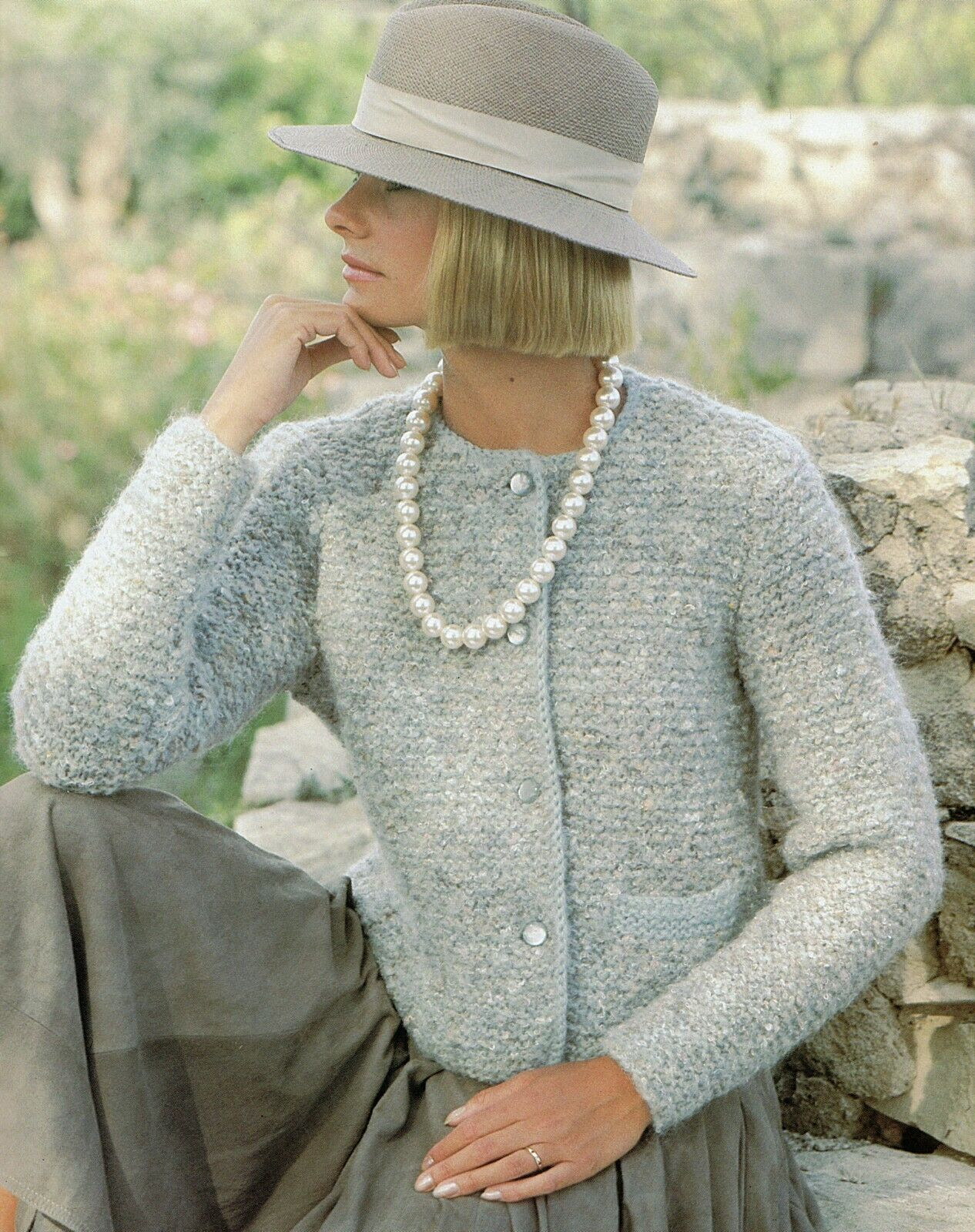 Knitting Pattern Ladies Chunky CardiganJacket (7 sizes 30 42