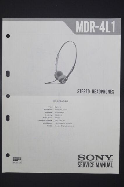 Sony MDR-135.3oz1 Original Service Manual/Guide/ Wiring Diagram! o15 ...