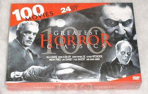 Horror Classics - 100 Movies - Bela Lugosi Lon Chaney Vincent Price DVD Box-Set