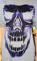 Purple Skull Shirt: M - Horror Scary Walking Dead Weird Gothic Cheap Gift