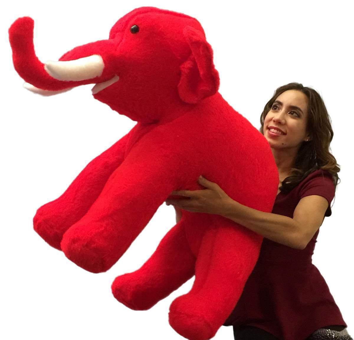 American Made Rot Groß Plüsch Rot Made Elefant 91.4cm Plüschtier Hergestellt in den USA a8ca76