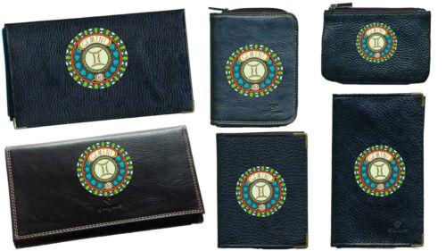 Porte Chequier ou compagnon ou porte monnaie porte carte grise signe Gemeaux