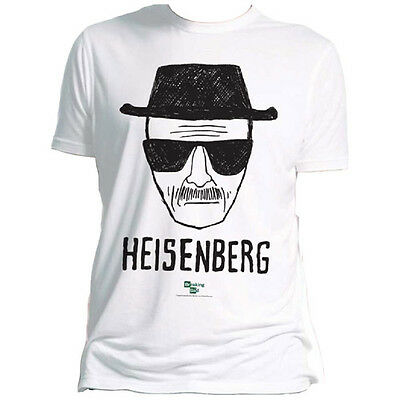 AMC Official Breaking Bad Mens Heisenberg T-Shirt Televsion Geek Walter White