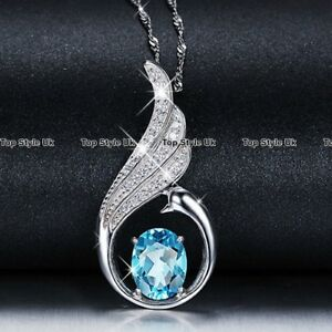 Silver-925-Blue-Topaz-Necklace-Jewellery-Birthday-Women-Gifts-for-Her-Girls-B2