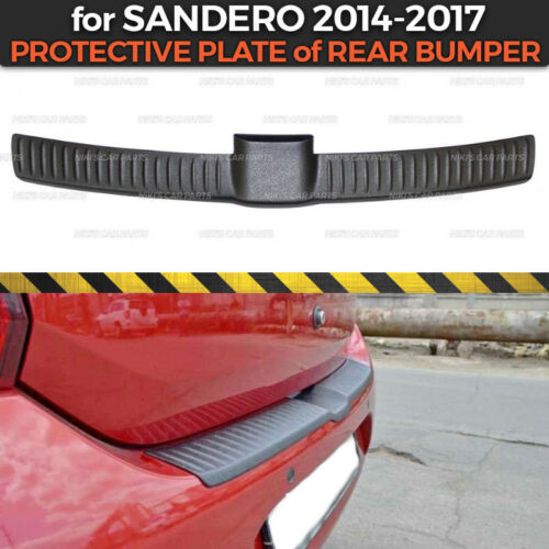 Protective Plate of rear bumper for Dacia Renault Sandero 2014 plastic ABS