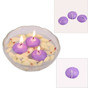 10/50x Romantic Round Candles Floating Floater Wedding Party Home Decor PURPLE