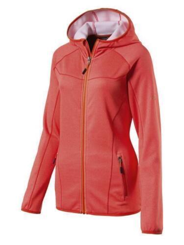 McKinley Damen Fleece Funktionsjacke Tamale Red Strech Kapuzenjacke Intersport