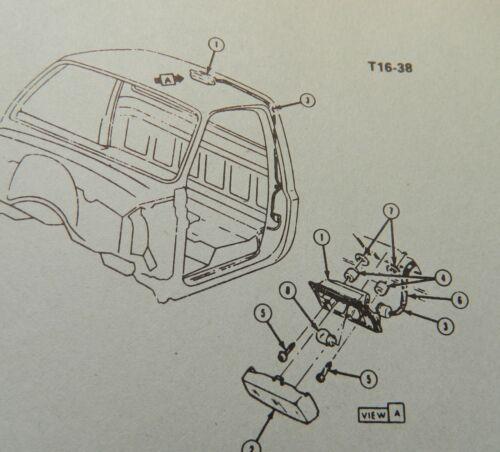 Housing Bulb /& Lens Chevy GMC 73 74 75 77 79 81 82 83 GM Truck Dome Light Kit
