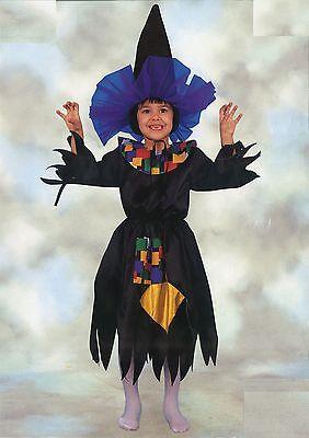 Costume Vestito Carnevale Strega 4 5 6 Anni E La Digestione Aiuta