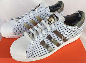 Adidas UK Shoes Adidas Superstar 80S Quickstrike Q16292 Camo Basketball Shoes Mens 9 Skate New Whi