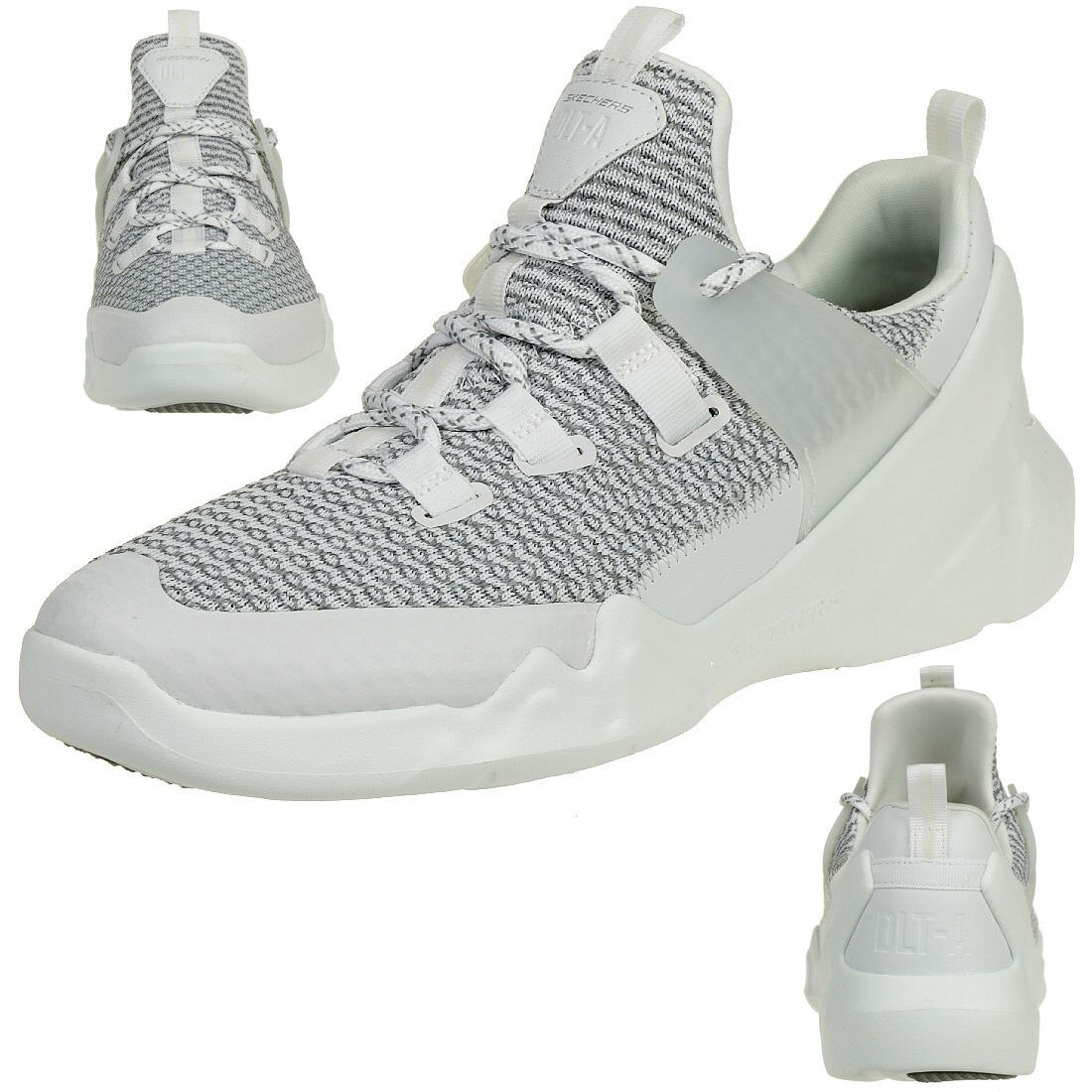 Skechers d 'Lites DLT-a señores air cooled memory foam cortos entrenador blancoo gris