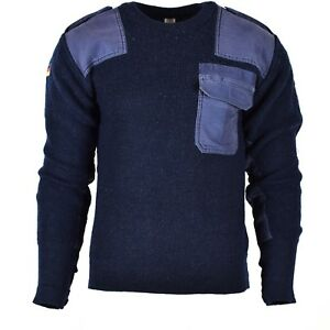 Original-German-army-pullover-Commando-Jumper-Blue-navy-sweater-Wool