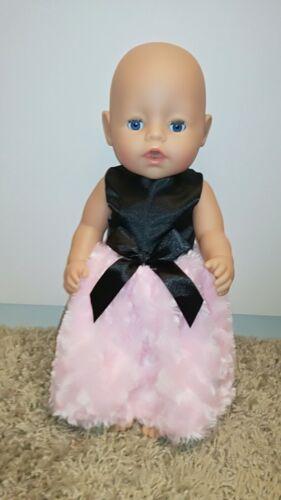 zb NEU Kleid 43 cm rosa/schwarz Baby Born Puppenkleidung