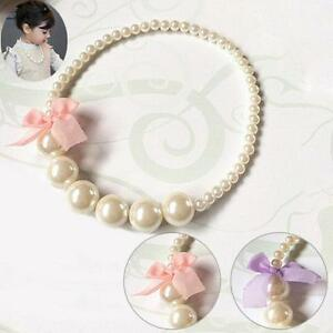 Pearl-Beads-Bowknot-Chunky-Bubblegum-Beads-Necklace-Baby-Girl-Jewelry-Gifts