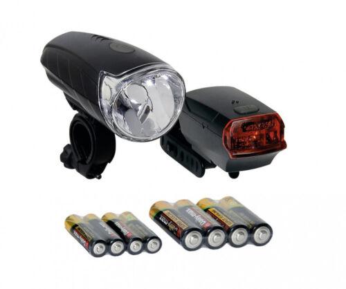 Fahrrad Batteriebeleuchtung Batterieleuchte Frontleuchte Set LED Sunrise