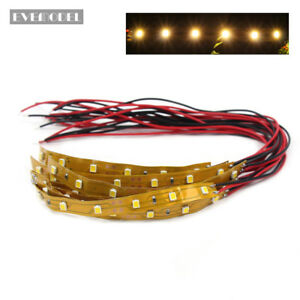 DD04WMCN-10pcs-Prewired-WARM-White-Strip-Led-Light-Self-adhesive-12V-18V-10CM