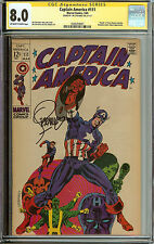 Signed Steranko Captain America #111 CGC 8.0
