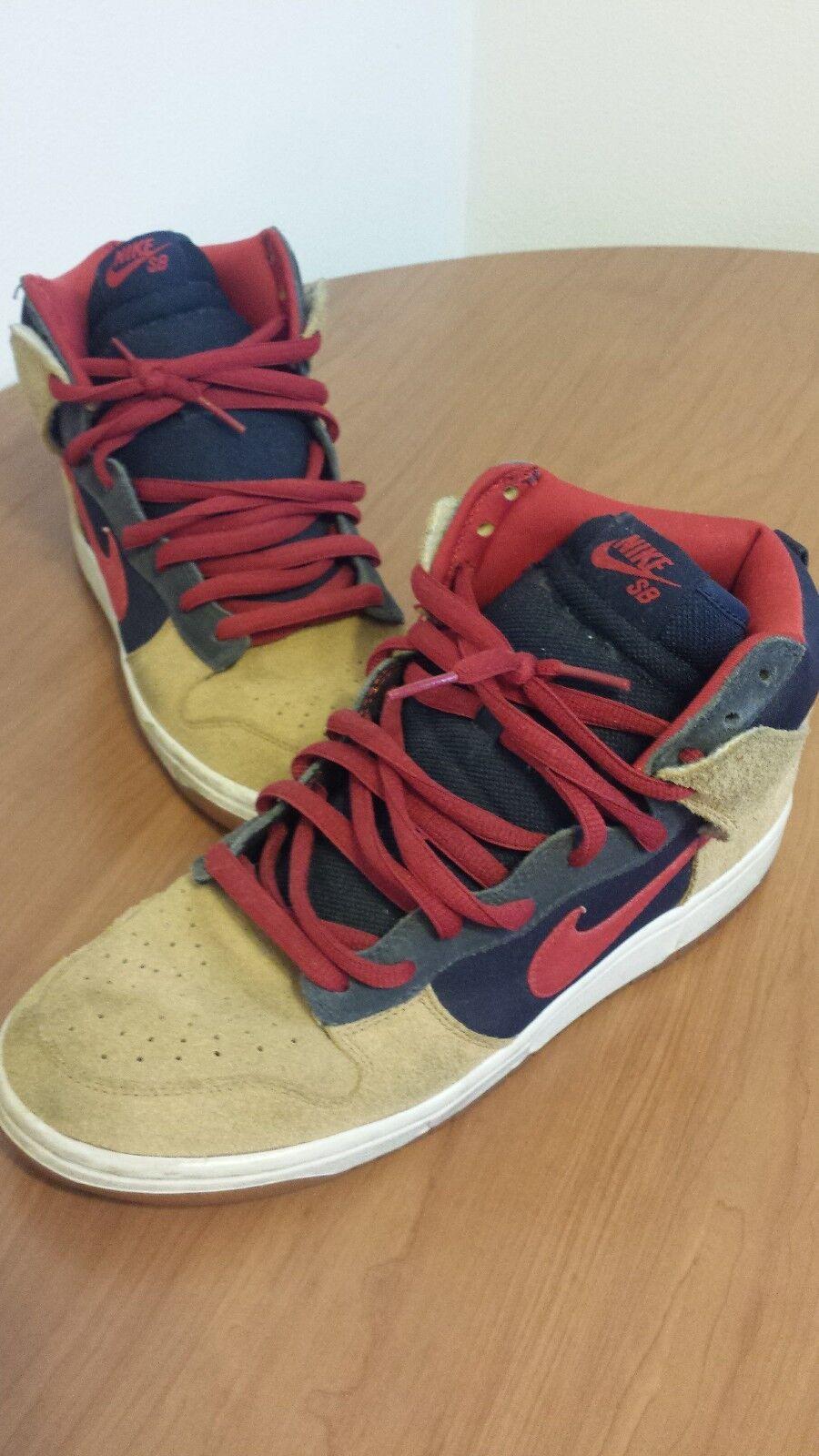 Nike sb hohe dunk größe 10 khaki - navy - - - blau - rot 3db2d8