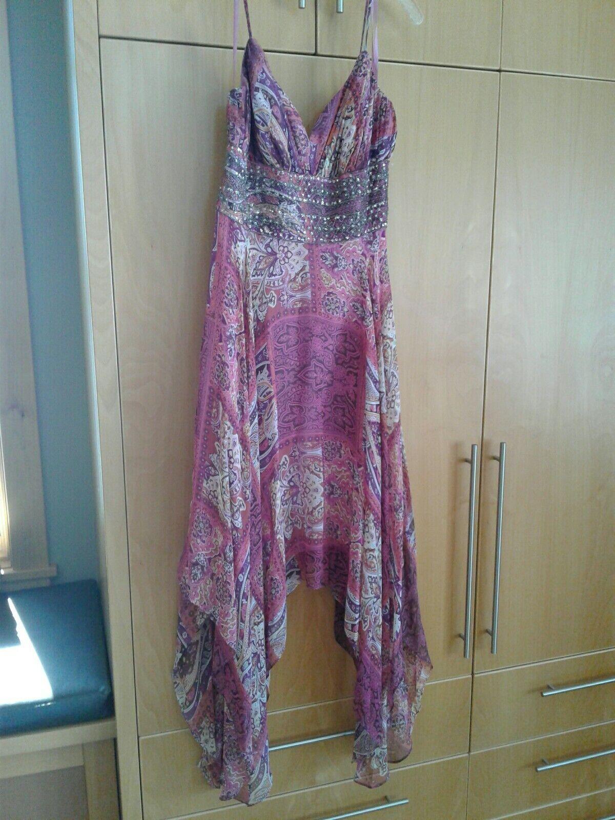 FP Femme Off épaule Robe Flare manches ajourées col haut dentelle robe