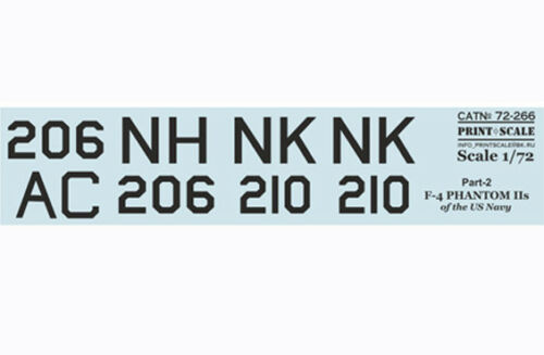 Print Scale 72-266 Decal for F-4 Phantom IIs Part-2 1:72 WET Decal