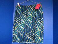 Sunny Leighteal Blue Green Women's Skirtmediumnwt