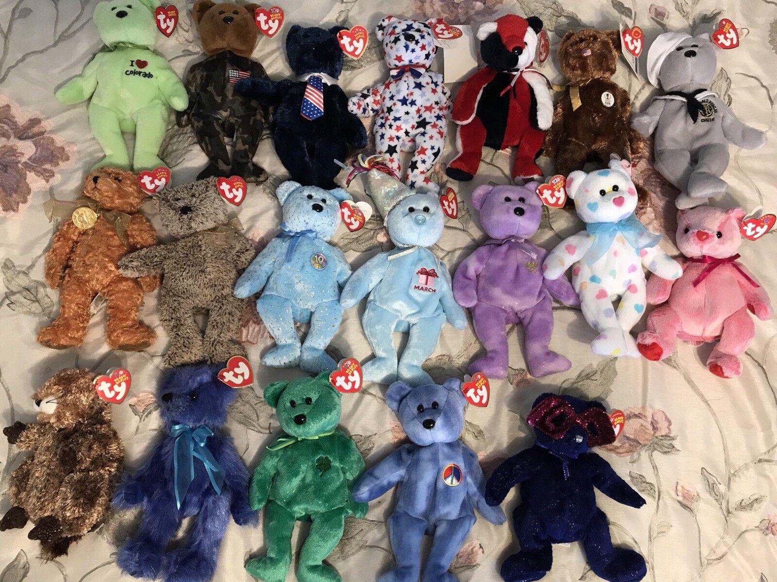 TY Beanie Babies Rare Retired Lot