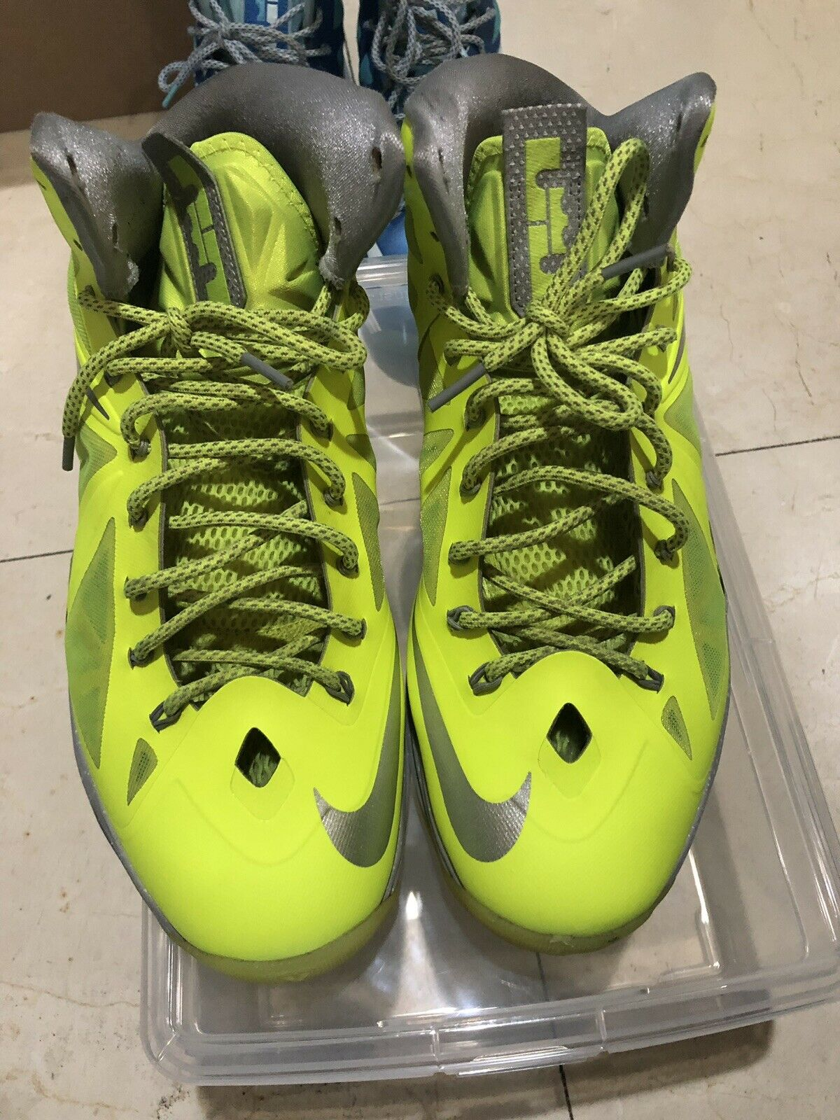 Nike LeBron X X X 10 Volt Size 13 e66c19
