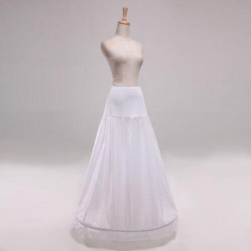 A Ligne Crinoline Neuf 1 ANNEAU A-ligne Blanc Robe de mariée Jupon Jupon