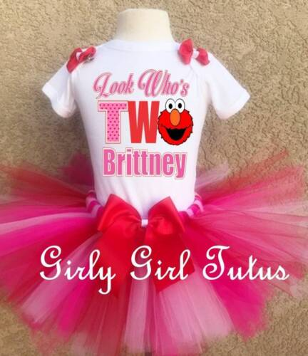 Personalized Baby Girl Elmo 2nd Birthday Outfit Tutu Set