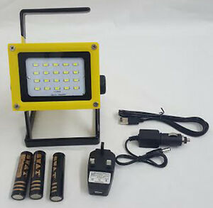 Image Is Loading 30w Led Flood Light Rechargeable Portable Outdoor Garden