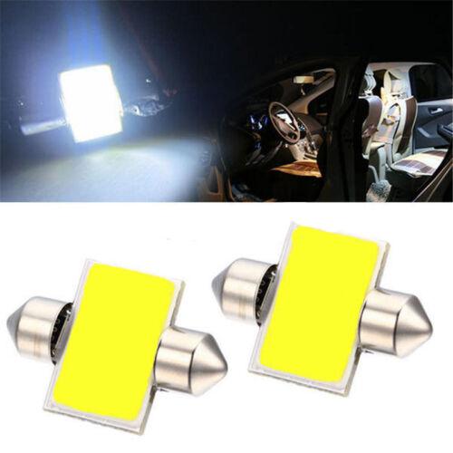 2pcs White 31mm 12smd COB LED DE3175 Bulbs For Car Interior Dome Map Lights #w7