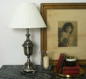 Table Lamps Bedside Antique Silver