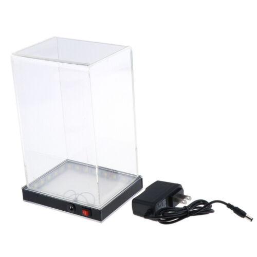 Acryl Vitrine 13x10x20cm Schaukasten Showcase Display Box mit LED