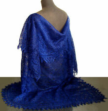 Chale Bleu fonce Idée Cadeau pour femme Chale russe d Orenbourg Tricoté la main