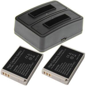 Duo-Ladegerat-2-Akkus-Typ-Canon-NB-5L-Ladestation-Accu-Battery-Ersatzakku