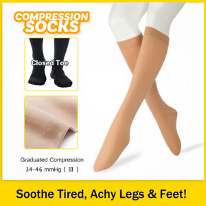 a2ffecfcfd 34-46 mmHg Medical Compression Socks Knee High Support Varicose ...