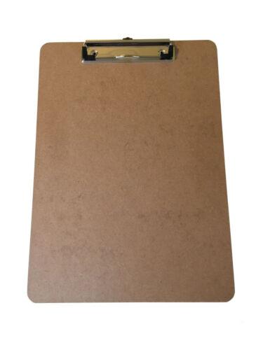 Holz 325 x 230mm mit Aufhänger Maul Klemmbrett Schreibplatte Hartfaser DIN A4