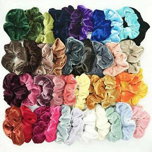 Womens-Hair-Scrunchies-Ladies-Girls-Elastic-Scrunchy-Bobbles-Velvet-Sports-Band