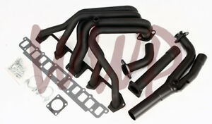 Performance-Black-Coated-Exhaust-Header-Manifold-87-90-Jeep-Wrangler-4-2L-6-Cyl