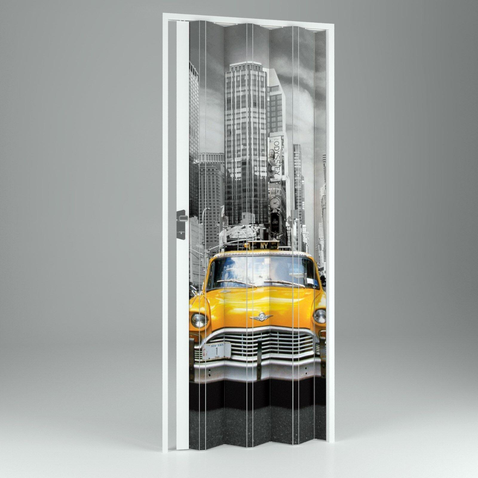 Motiv - Falttür Kunststoff-Falttür Vera 202x89,5 cm Doppelwandig 10mm NEUWARE