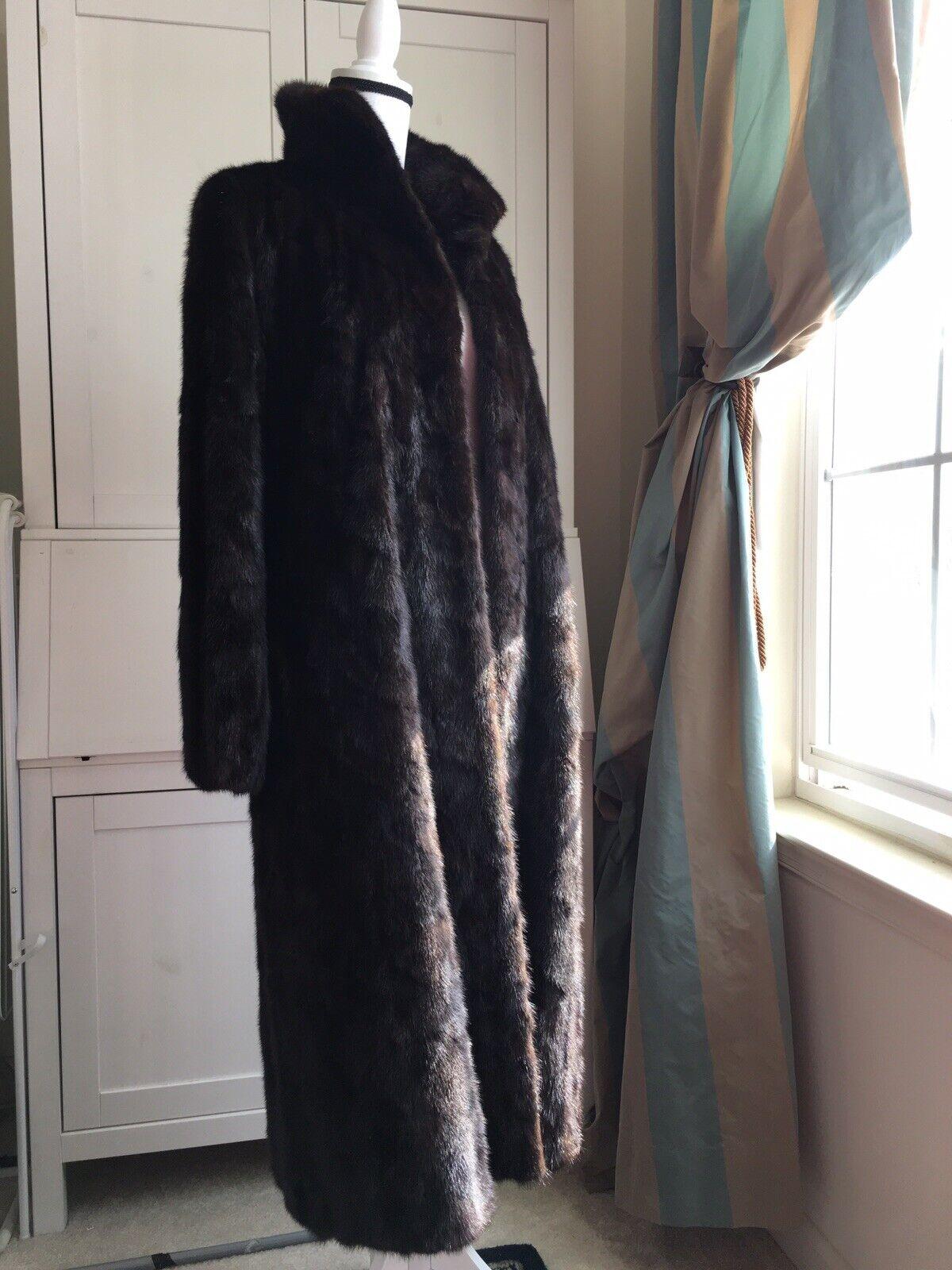 """Dark Brown Mink Fur Coat Full Lenght  """"Diane Furs… - image 6"""